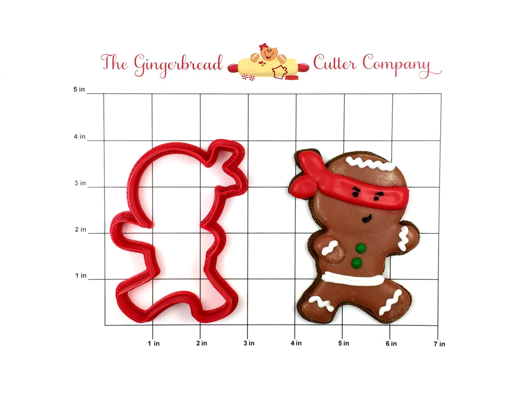 Punching Ninja Gingerbread Man Cookie Cutter