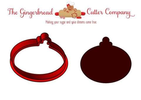 Christmas Ornament - Oval Cookie Cutter