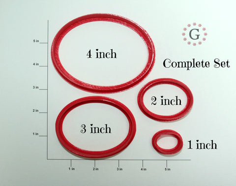 Oval Cookie Cutter - 4 Size Options