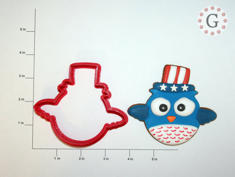 Patriotic Owl Cookie Cutter