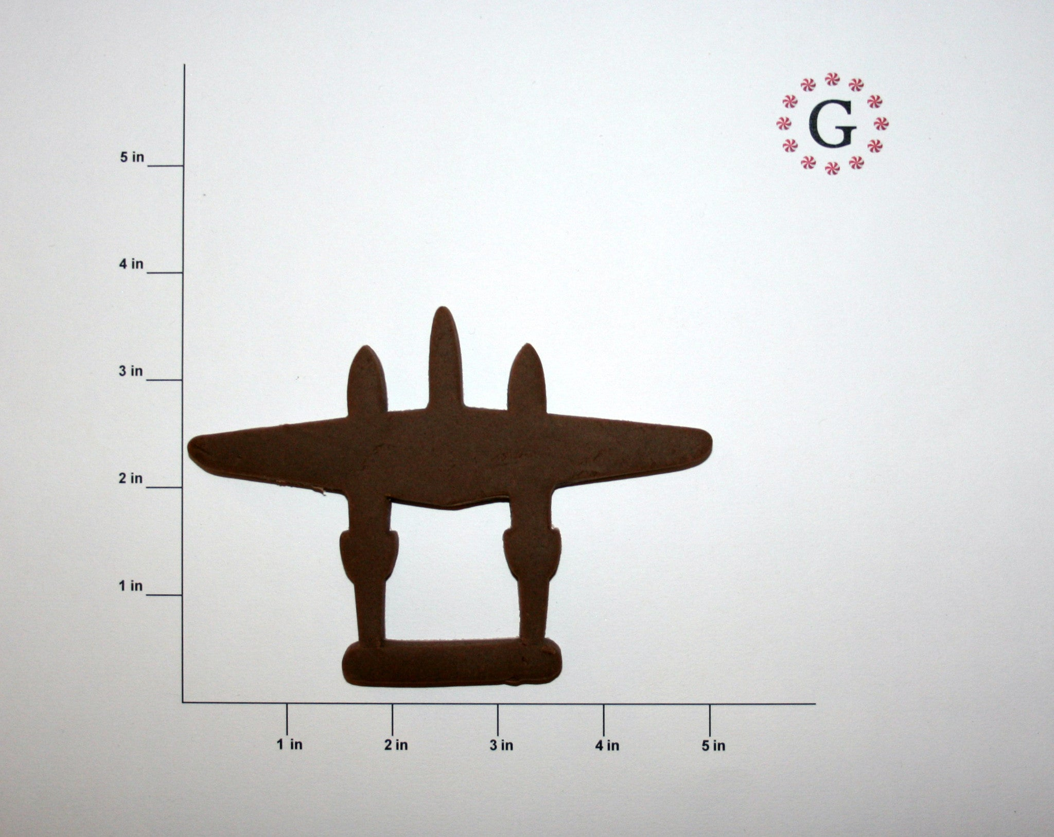 P-38 Lightning Top View Cookie Cutter