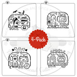 "PYO Stencil - Holiday Camper Series by ""Zee Will Draw"""