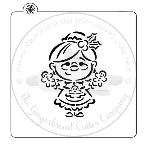 "PYO Stencil - Mrs. Claus by ""DRAWN by Krista"""
