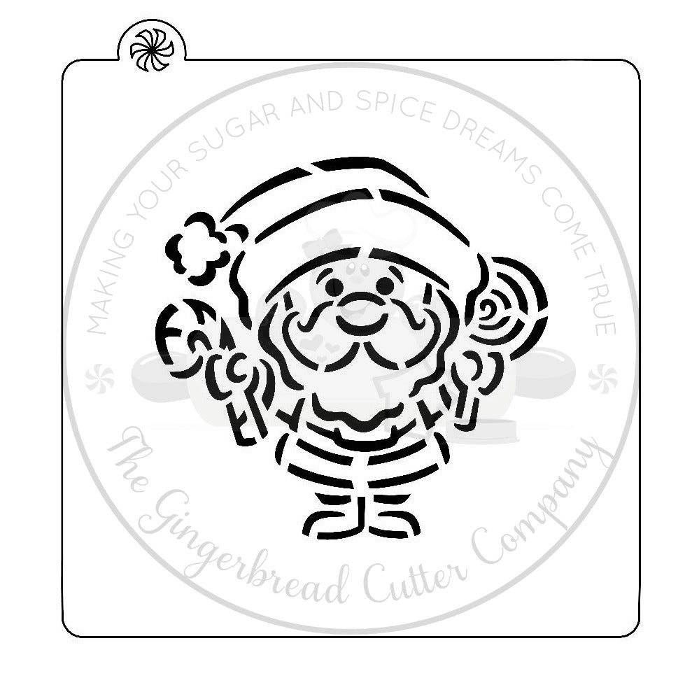 "PYO Stencil - Santa Claus by ""DRAWN by Krista"""