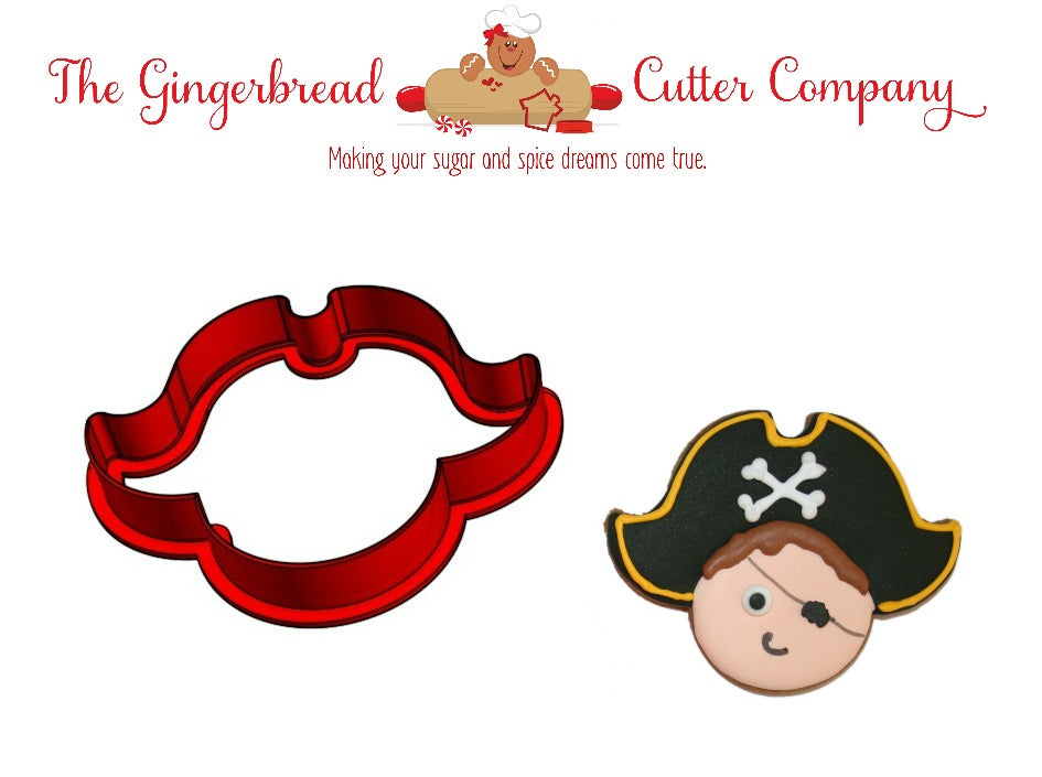 Pirate with Hat Cookie Cutter