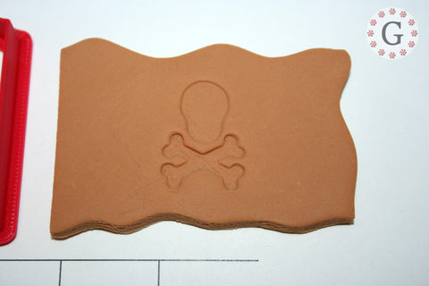 Pirate Flag with Skull & Crossbones Cookie Cutter