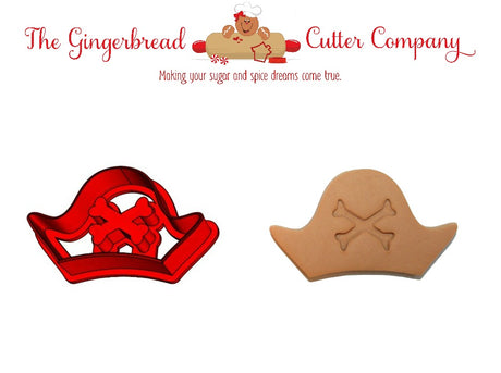 Pirate Hat with Crossbones Cookie Cutter