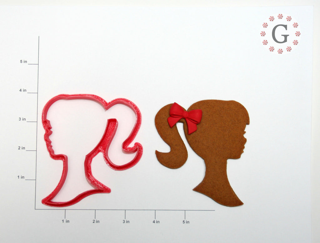 Girl Portrait Cookie Cutter