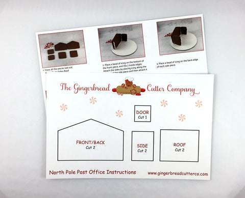 Gingerbread North Pole Post Office Cookie Cutter Set
