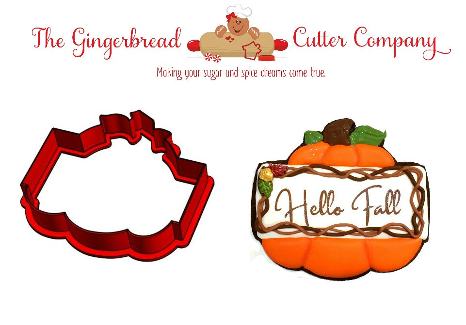 Pumpkin Plaque Cookie Cutter