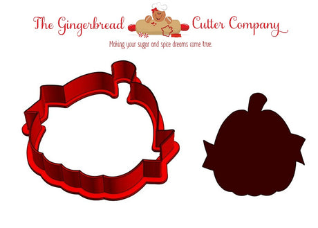 Pumpkin with Sash Cookie Cutter