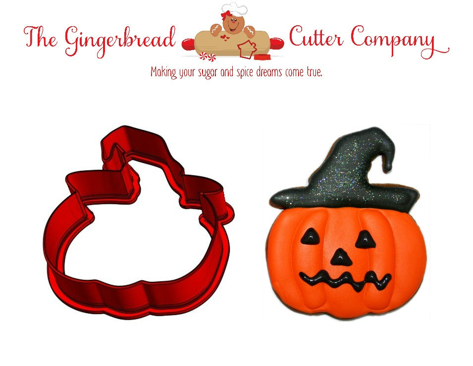 Pumpkin With Hat Cookie Cutter - 3 Size Options
