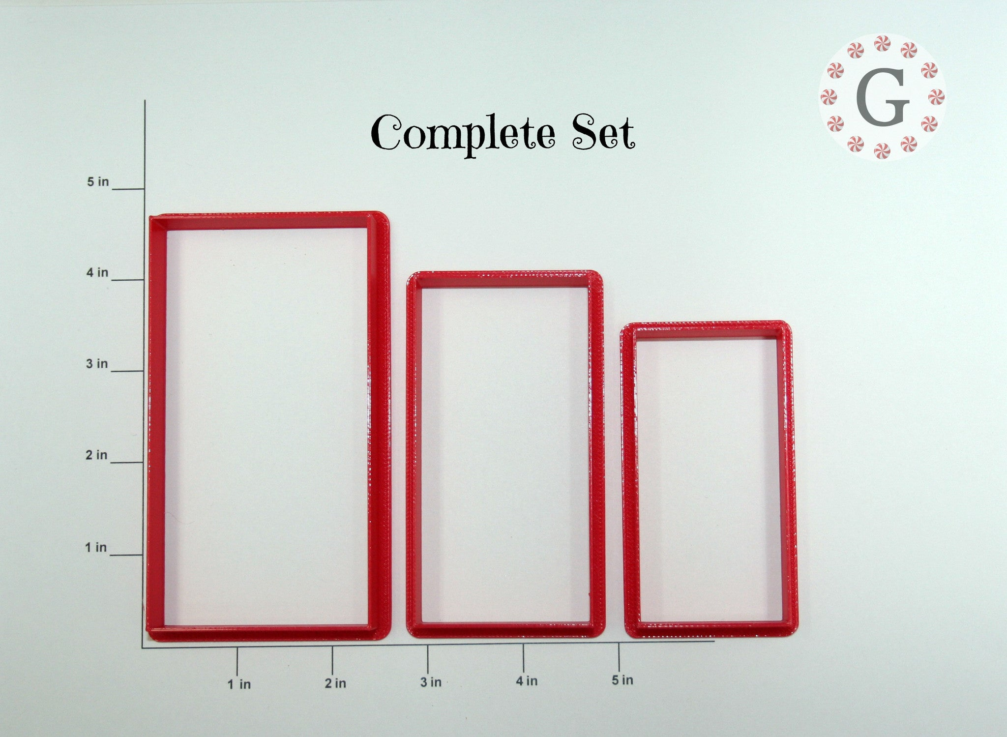 Rectangle Cookie Cutter - 3 Size Options