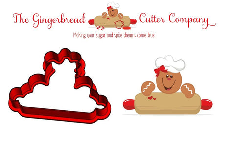 Gingy Girl Rolling Pin Plaque Cookie Cutter