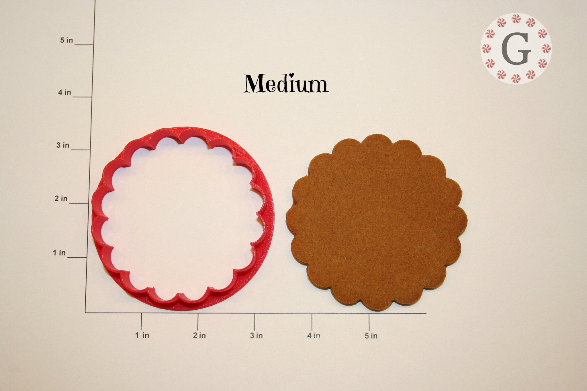 Round Scallop Cookie Cutter - 3 Size Options