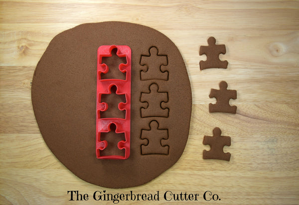 Puzzle Piece Mini Cookie Cutter Stick