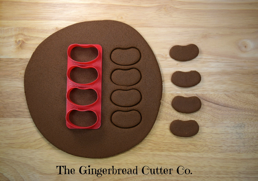 Jelly Bean Mini Cookie Cutter Stick