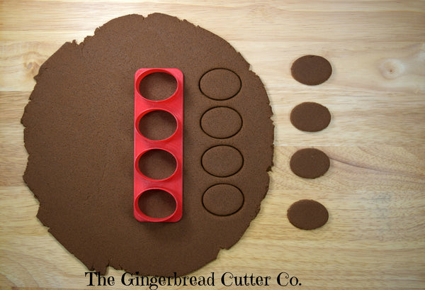 Oval Mini Cookie Cutter Stick