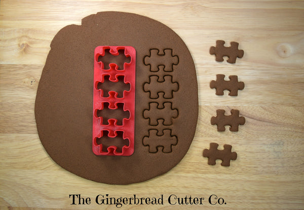 Puzzle Piece (2) Mini Cookie Cutter Stick