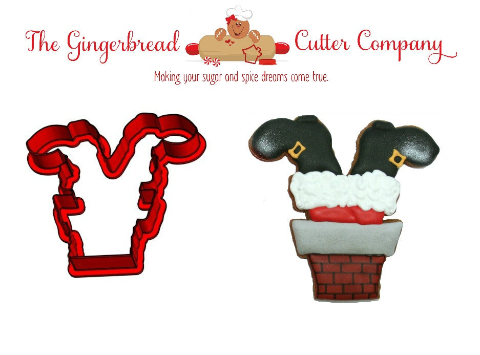 Santa Boots in Chimney Cookie Cutter