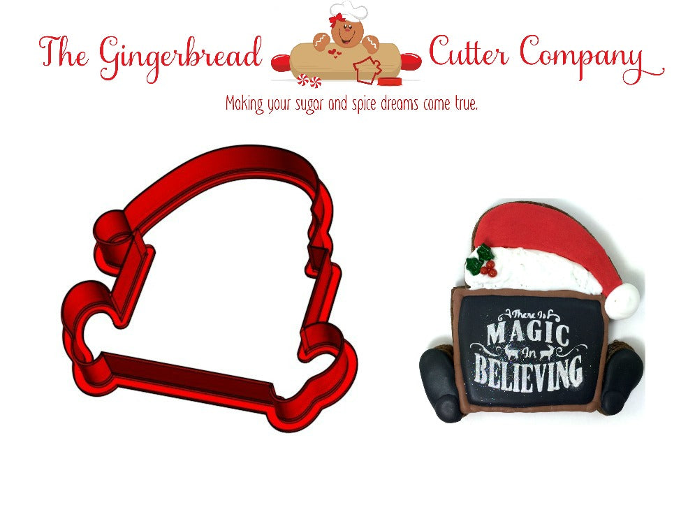 Santa Plaque Cookie Cutter