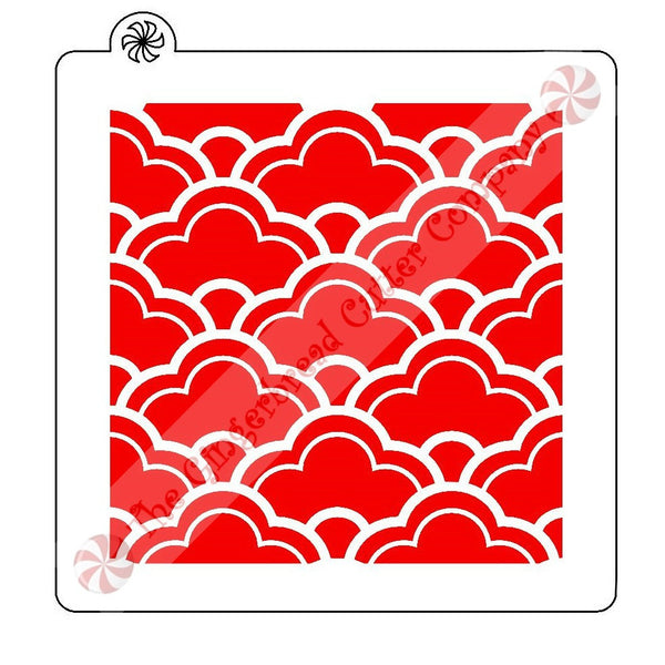 Scallop Pattern Background Cookie Stencil