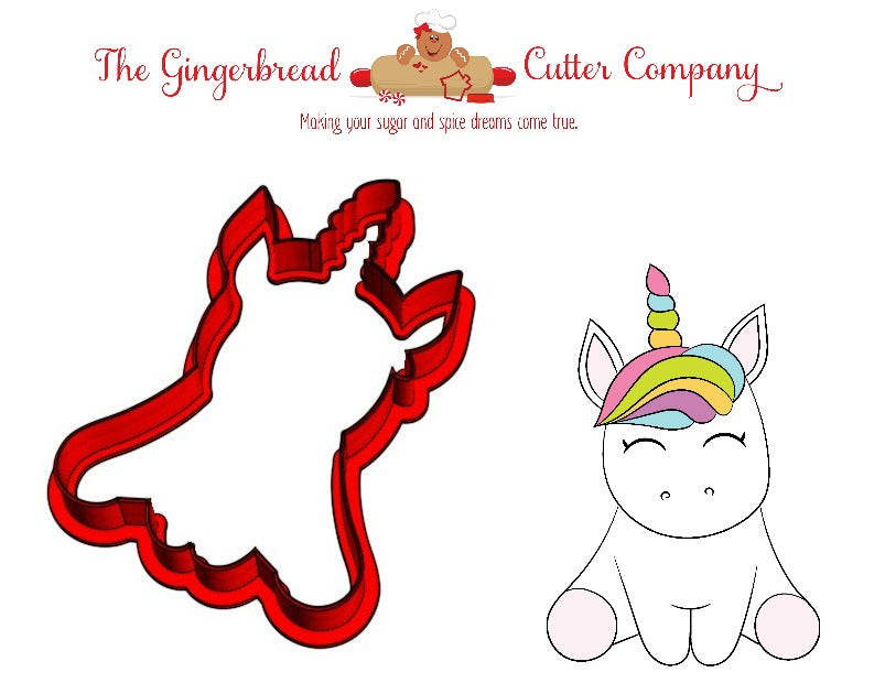 Sitting Unicorn Cookie Cutter