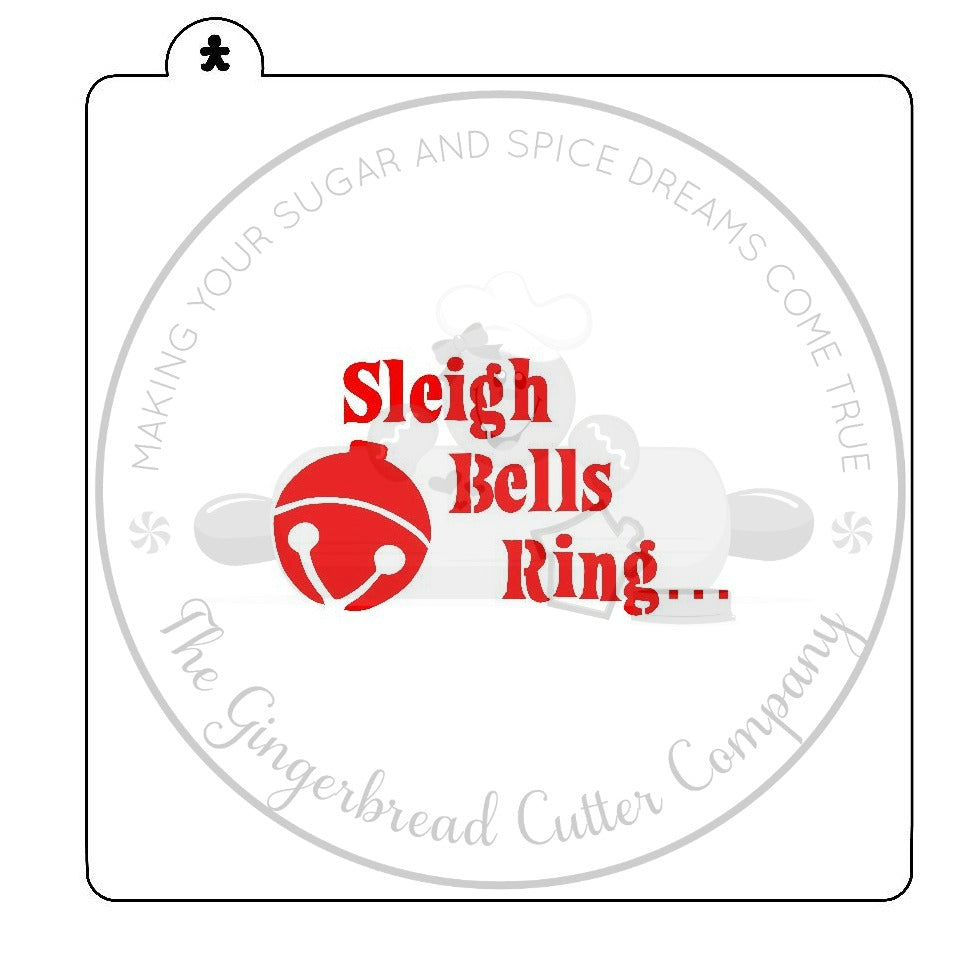 Sleigh Bells Ring Cookie Stencil