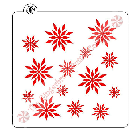 Snowflake Background Cookie Stencil