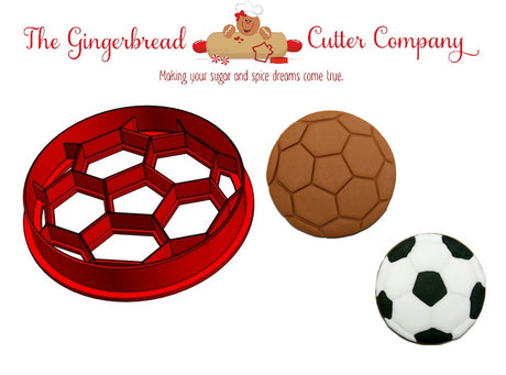 Soccer Ball Cookie Cutter - 2 Size Options