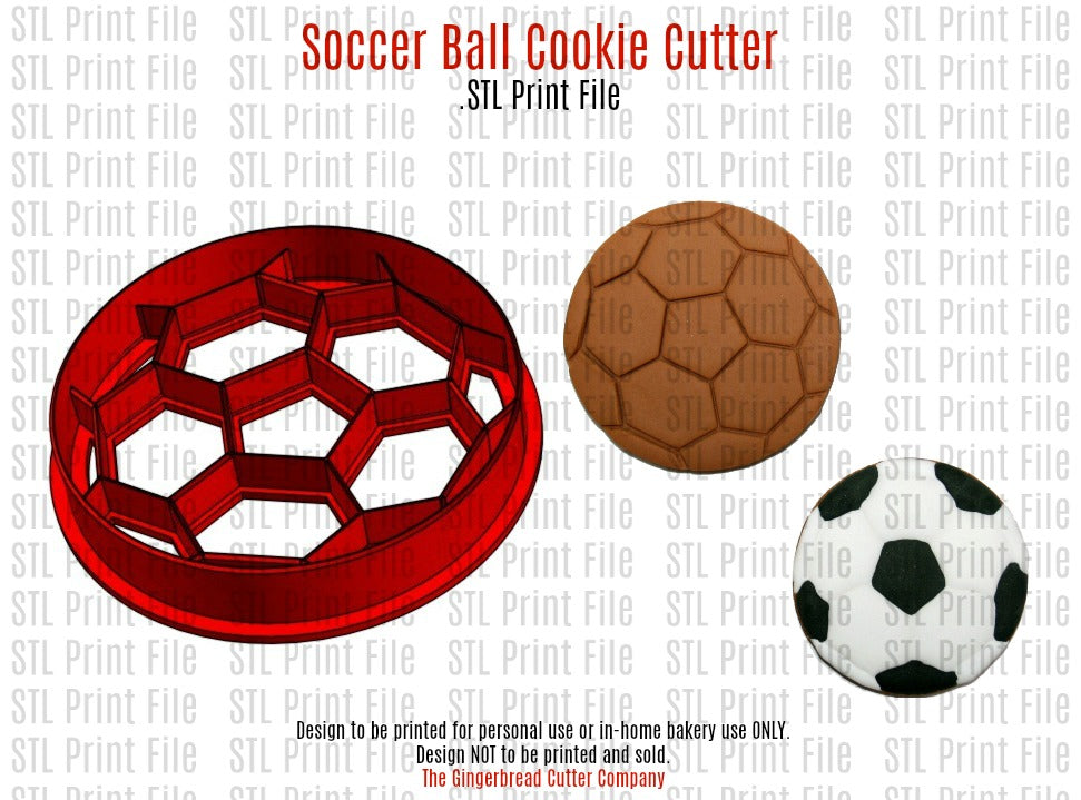 Soccer Ball Cookie Cutter .STL Print File
