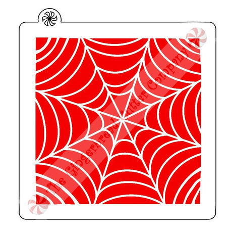 Spider Web Background Cookie Stencil