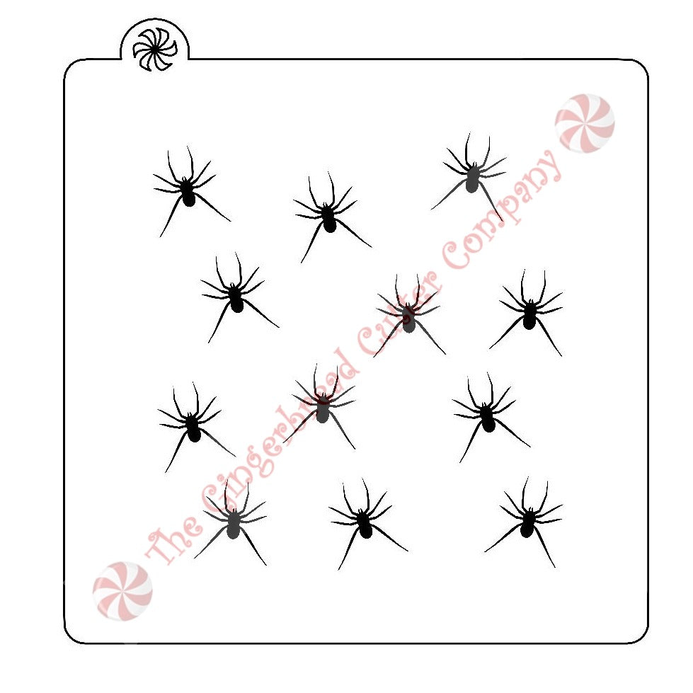 Spider Background Cookie Stencil