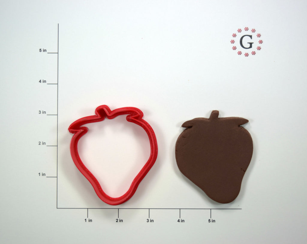 Strawberry Cookie Cutter - 3 Size Options