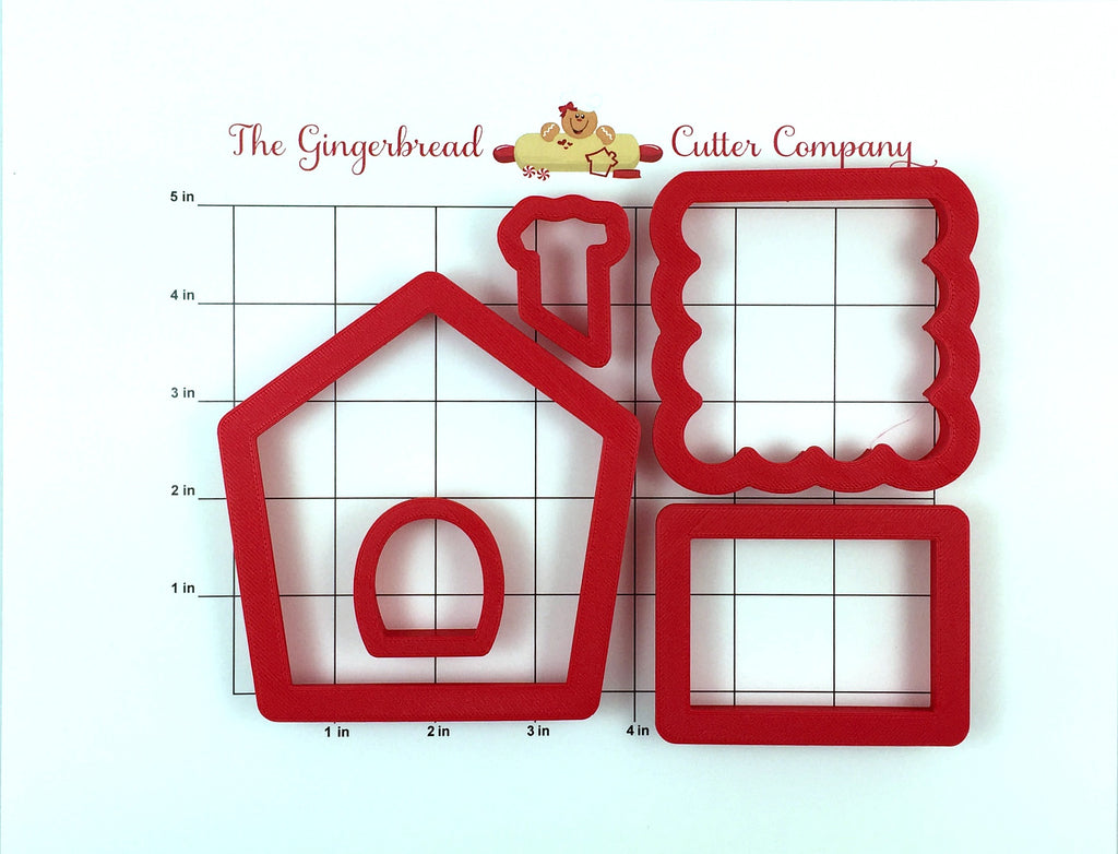 Gingerbread Sugar Plum House Cookie Cutter Set