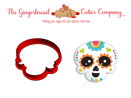 Sugar Skull Style 2 Cookie Cutter