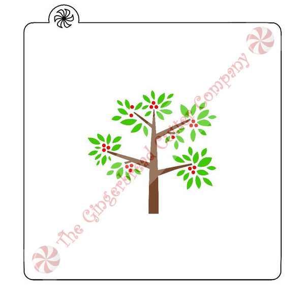 Tree With Berries 3 Piece Cookie Stencil