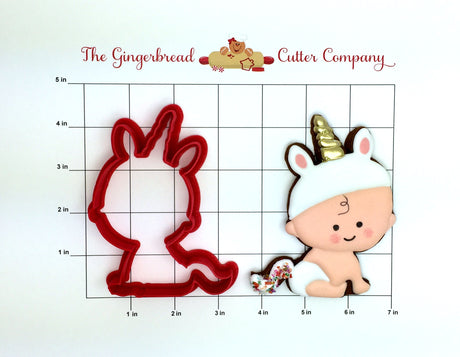 Unicorn Baby Cookie Cutter