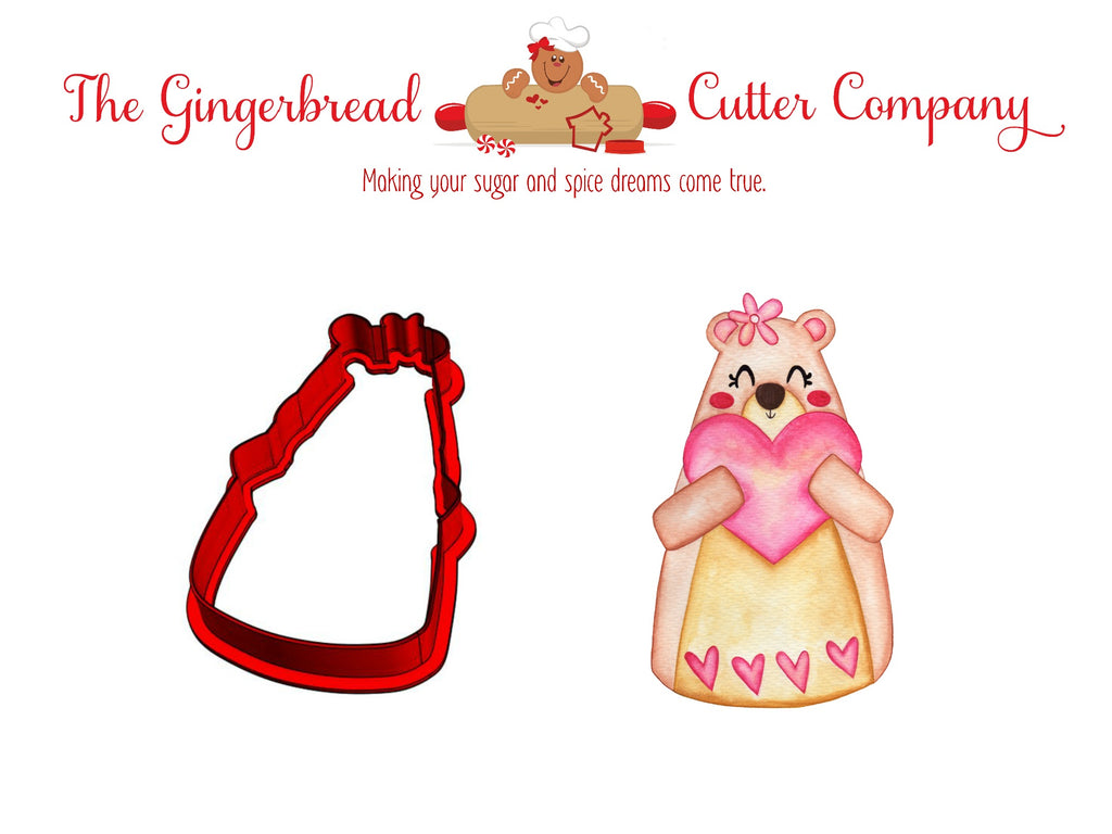 Valentine Bear Cookie Cutter