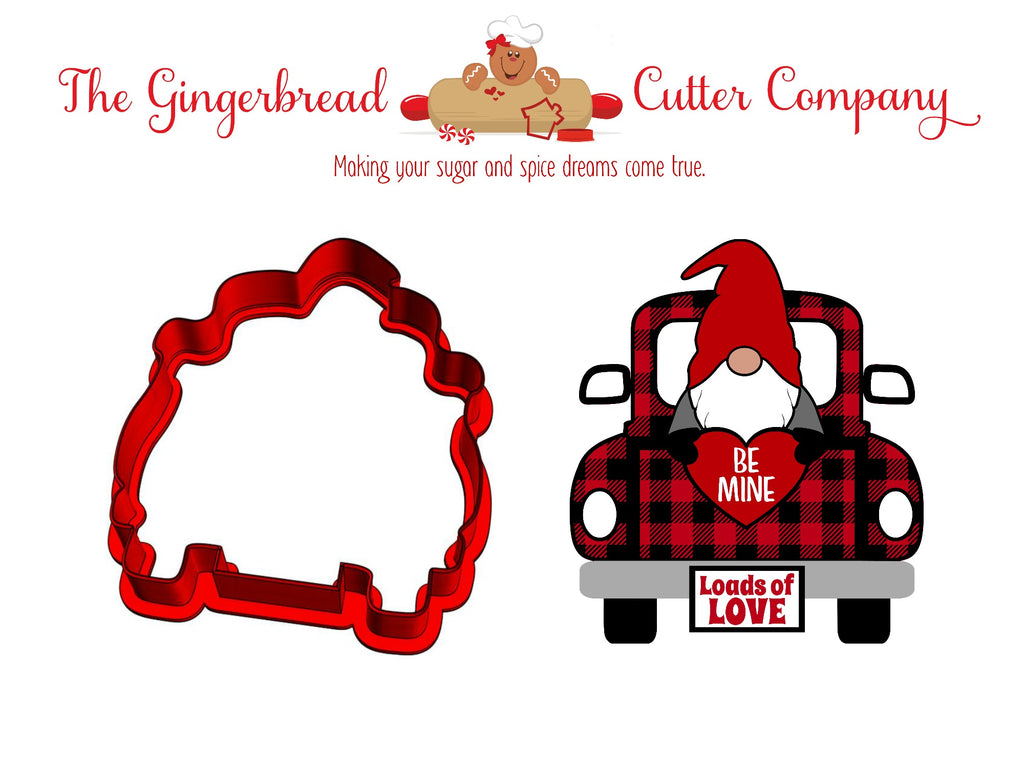 Gnome Valentine Truck Cookie Cutter