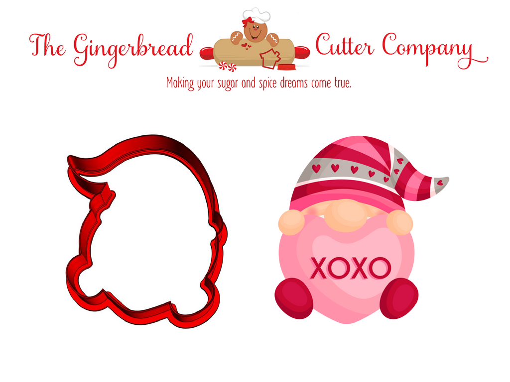 Valentine Gnome Cookie Cutter