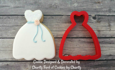 Wedding Dress Cookie Cutter - CAC