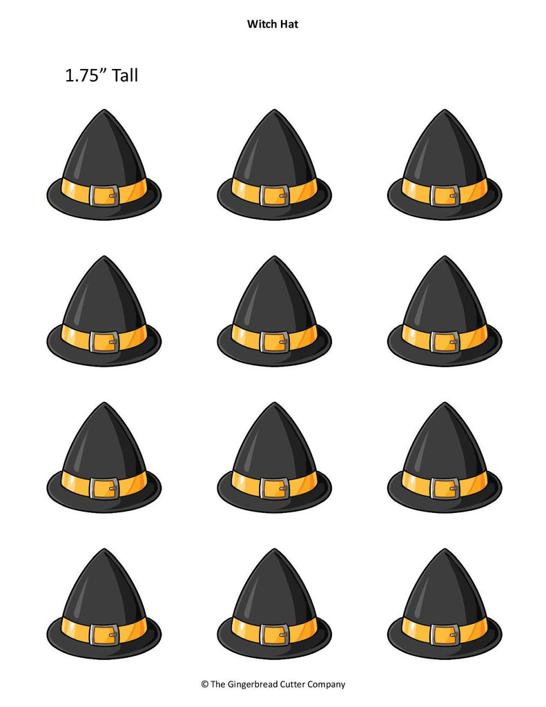 Witch Hat Royal Icing Transfer Template