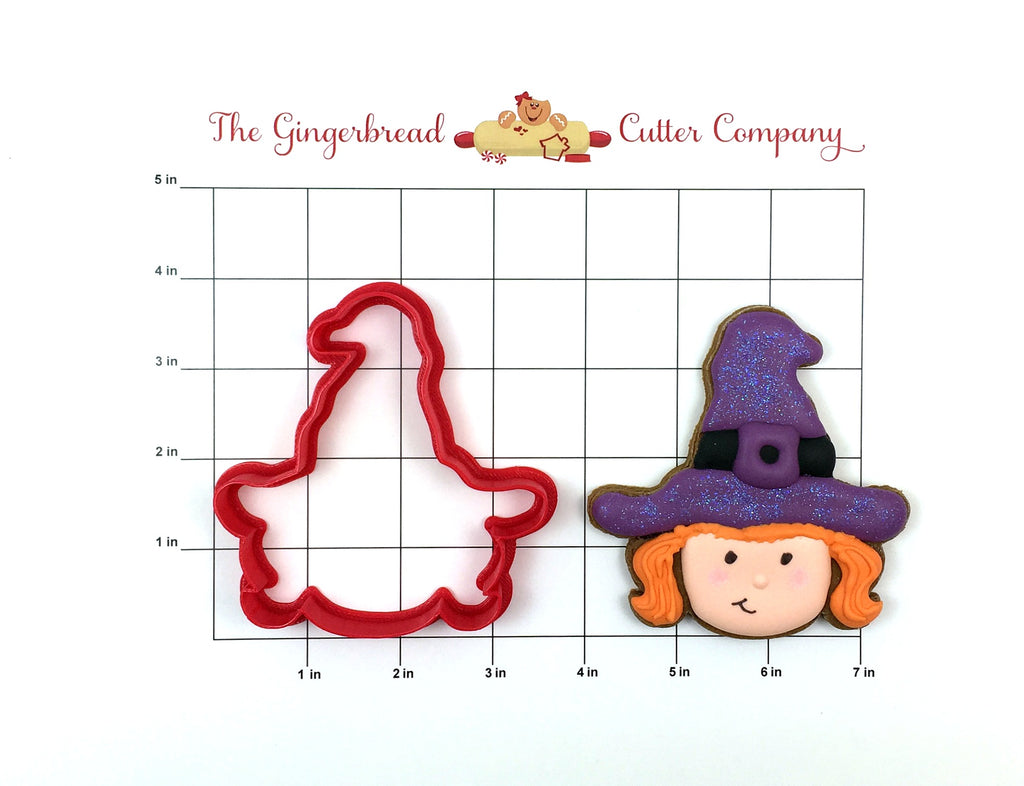 Witch with Hat Cookie Cutter