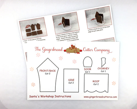Gingerbread Santa's Workshop Cookie Cutter Set