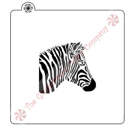 Zebra Head Cookie Stencil