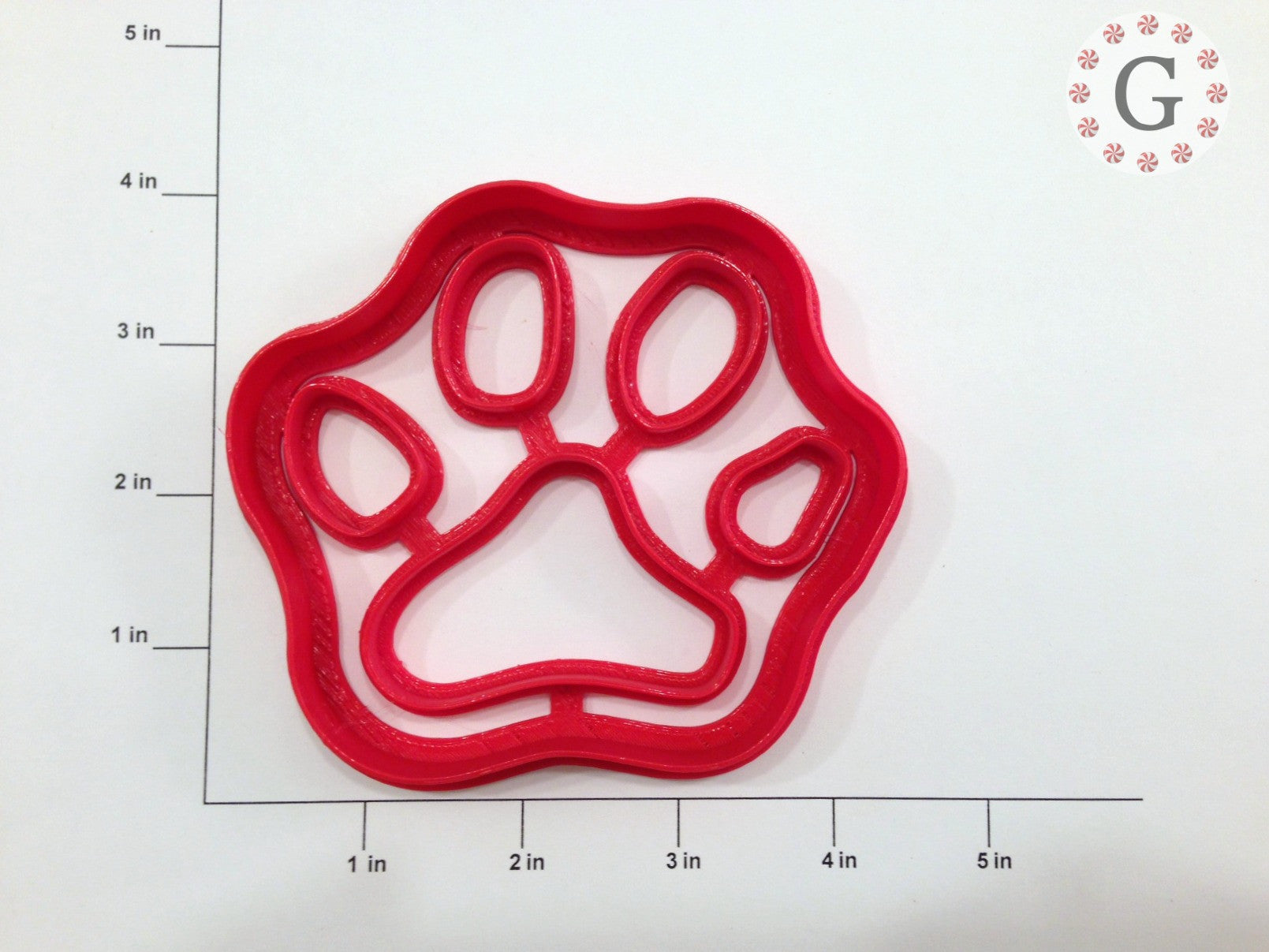 Dog Paw Print Cookie Cutter - 3 Size Options