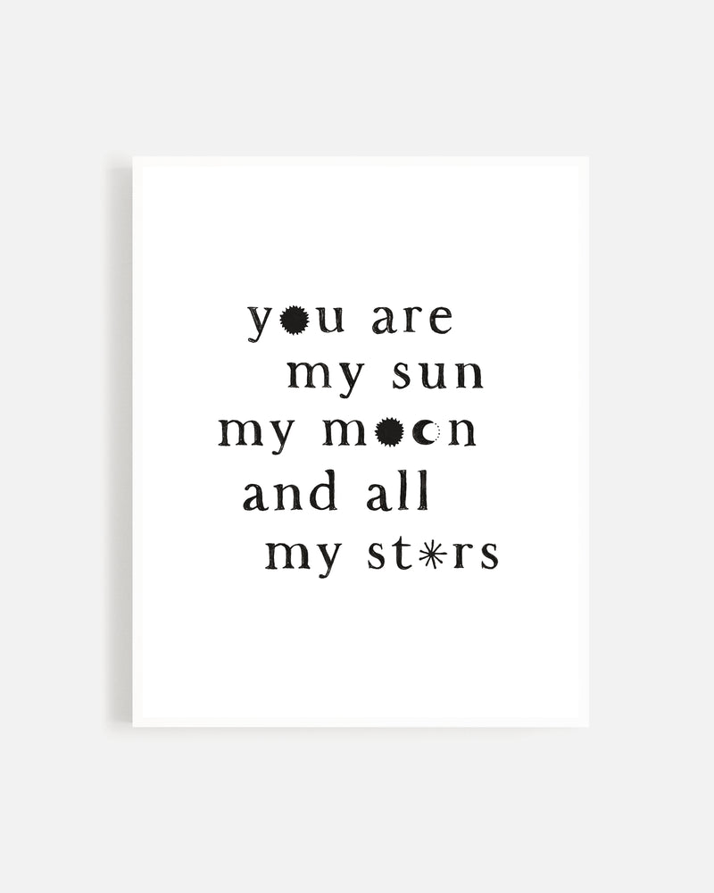 Sun, Moon, and Stars Print - Rylee + Cru