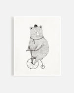 cycling bear print - Rylee + Cru