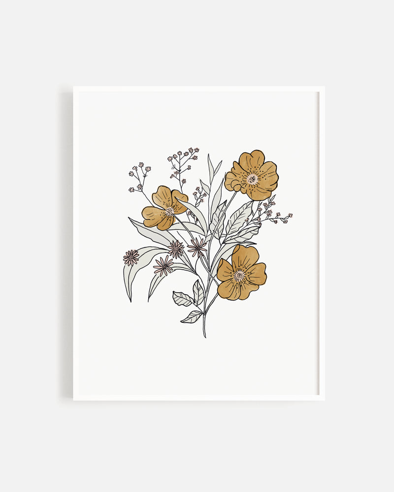 Wildflower Bouquet Print - Rylee + Cru